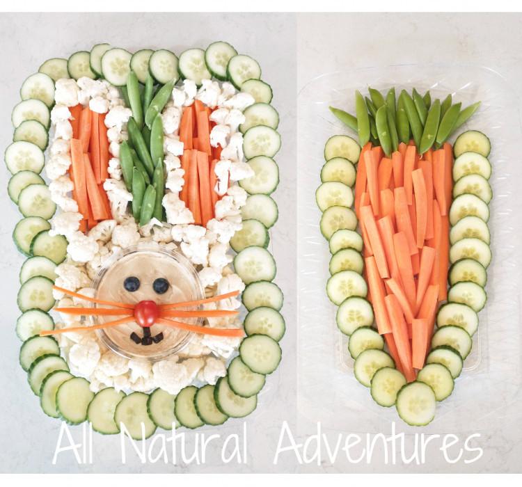 Easter Bunny Veggie Trays