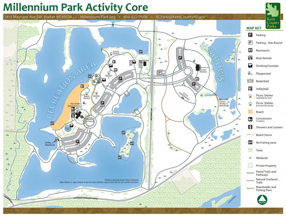 Millennium Park (MI) Recreation Area Map