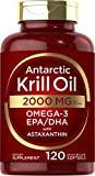 Antarctic Krill Oil 2000 mg 120 Softgels