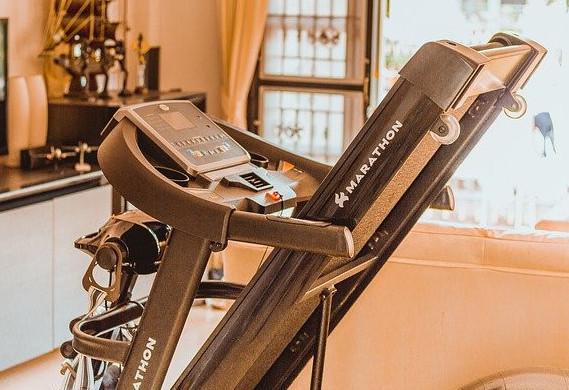 a treadmill at home