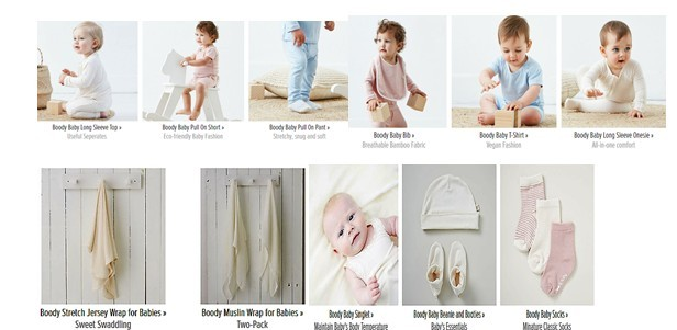 Bamboo clothing in baby wear
