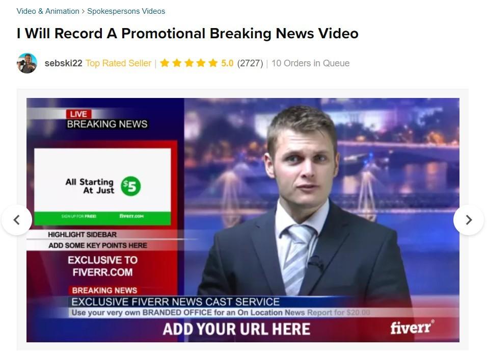 Fiver Job advertisements