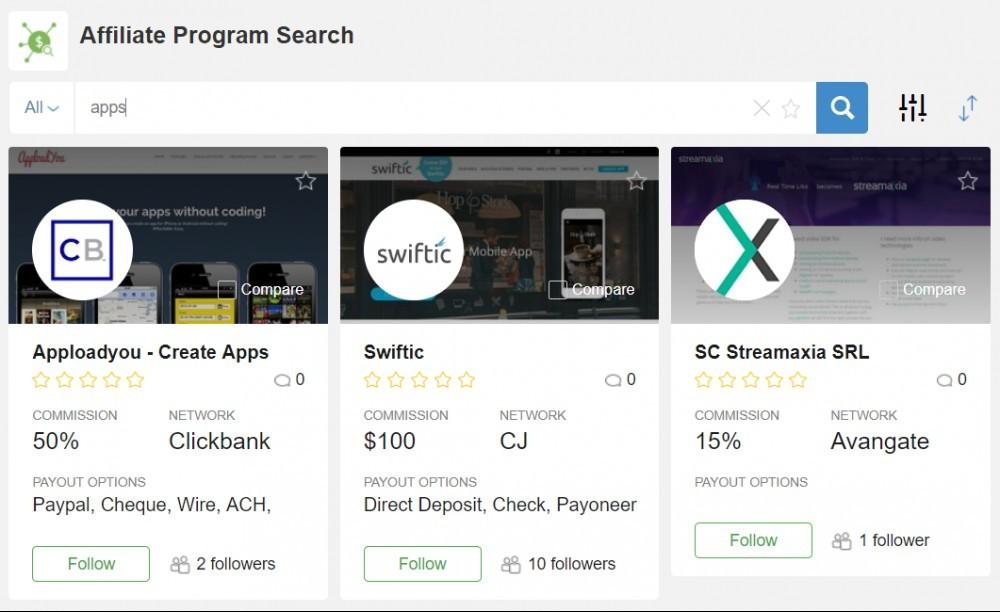 Affiliate Search Program