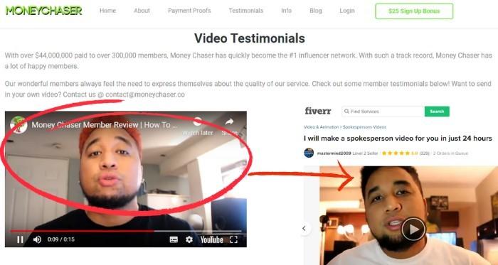 fake video testimonials