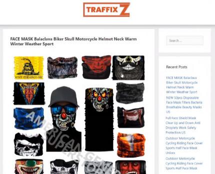 Traffixz website example