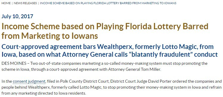 the lotto magic scam court ruling iowa
