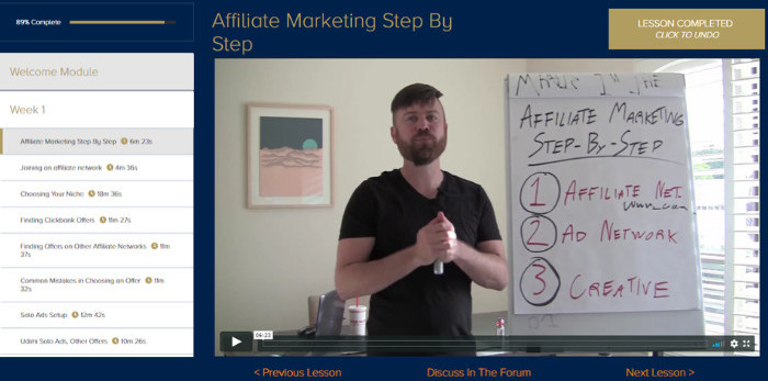 super affiliate system training modules