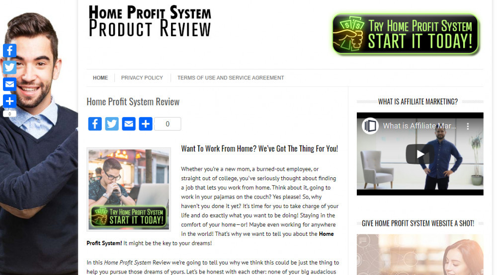 home profit system website