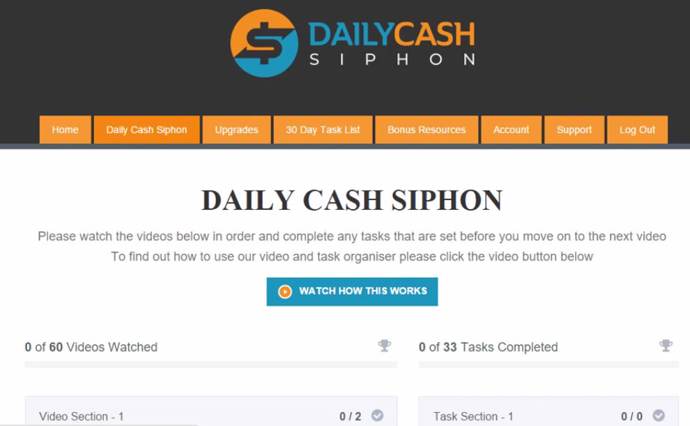 daily cash siphon members area