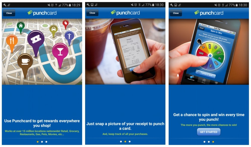 the punchcard app