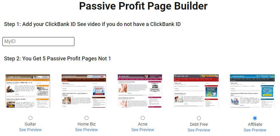how passive profit builder works