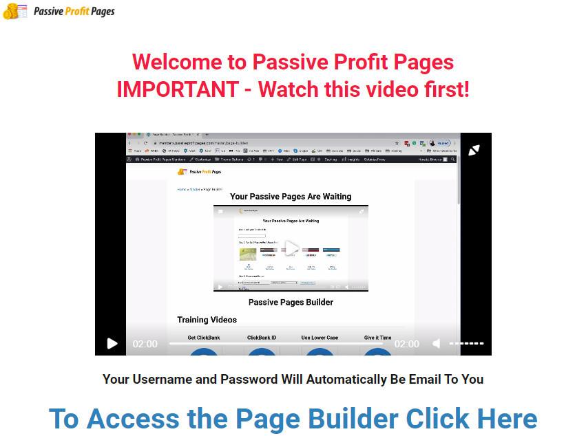 Passive Profit Pages members area