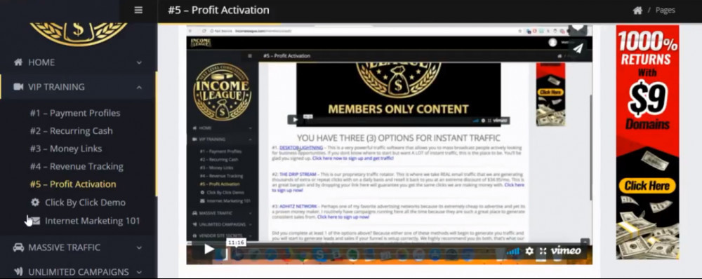 income league email marketing training