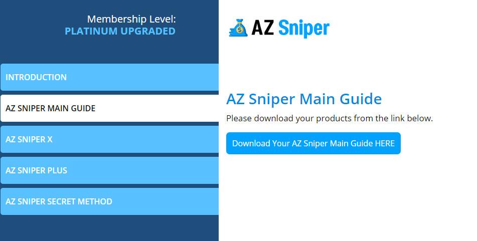az sniper review members area