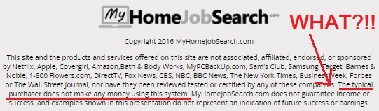 my home job search is a scam