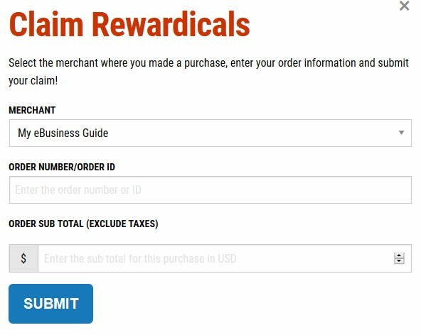 Claim Rewardicals Rewards Points using a simple online form.