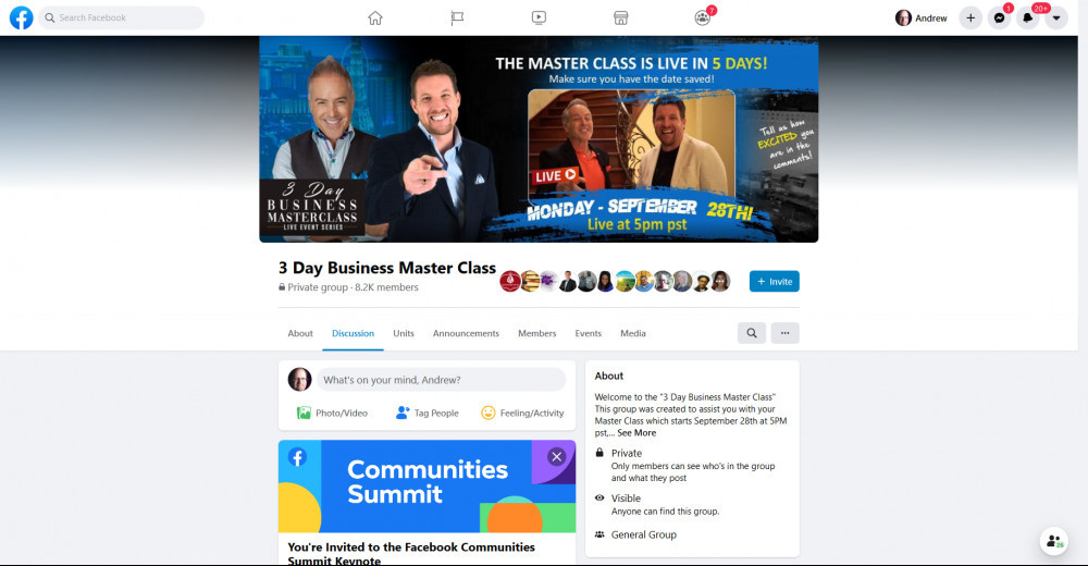 Facebook Mastermind Group Lead Conversion Masterclass