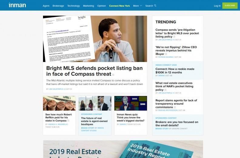 Real Estate Blogs that Make Money Inman Screenshot