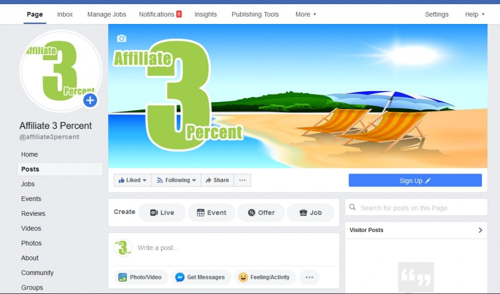 Sample Facebook Fan Page