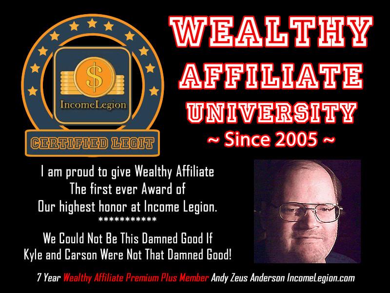 Wealthy Affiliate University Cerrtified Legit