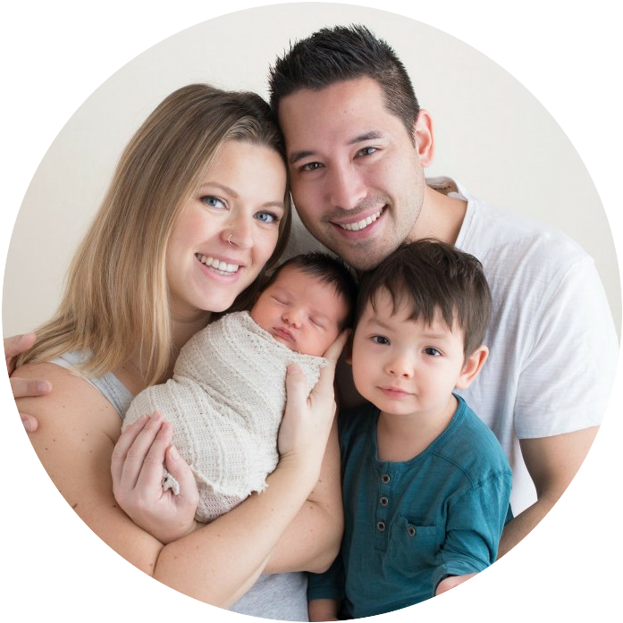 Carson Lim with Wife and Kids
