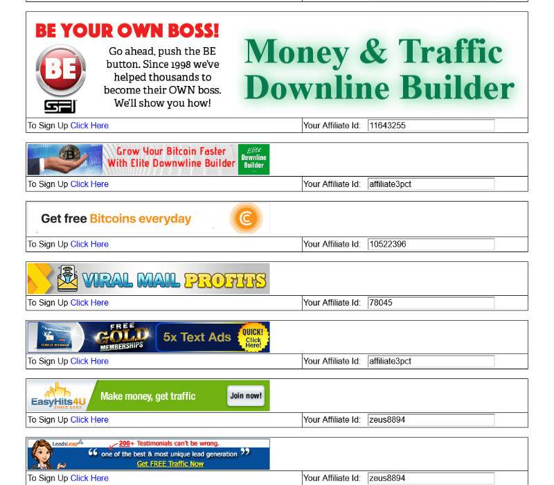 DOwnline Builder at Mailer On Fire Viral Mailer Builds Cash and traffic Downlines