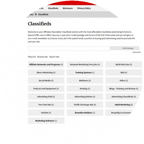 Classifieds Home Page