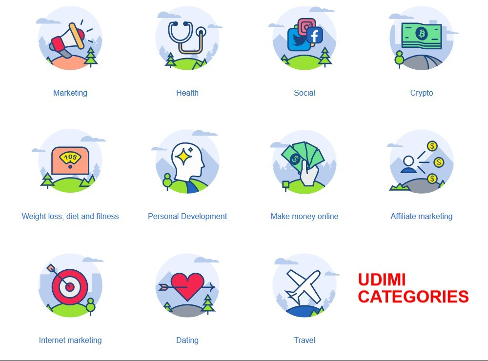 Udimi Solo Ads Categories
