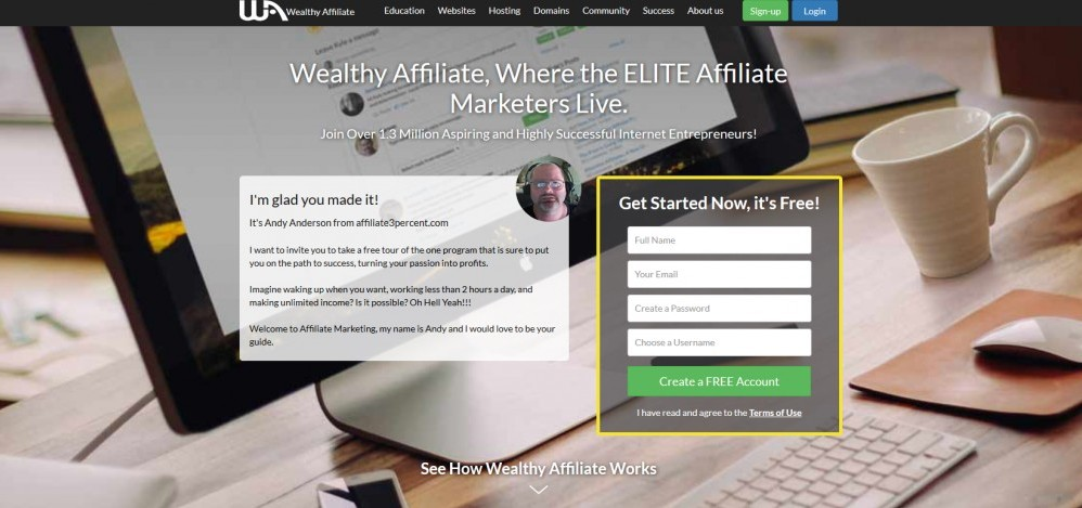 2018 Wealthy Affiliate Review Screenshot