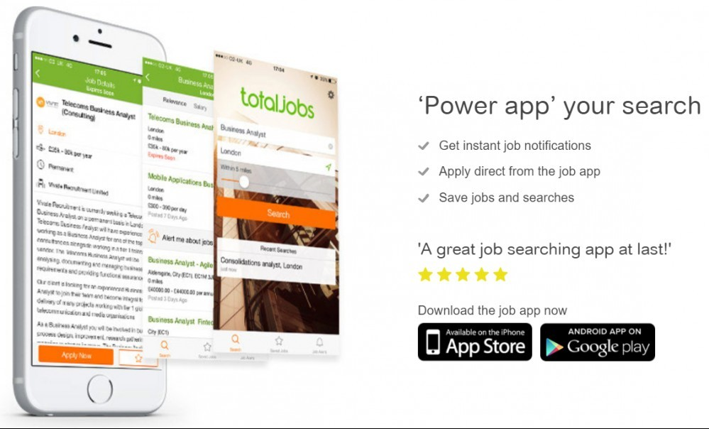 TotalJobs UK power app