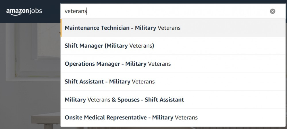 Best online jobs for veterans on Amazon