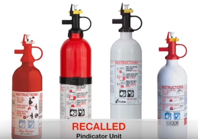 kidde extinguisher recall