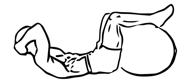 diagram of a man doing ab crunches