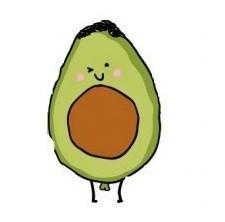 cartoon avocado