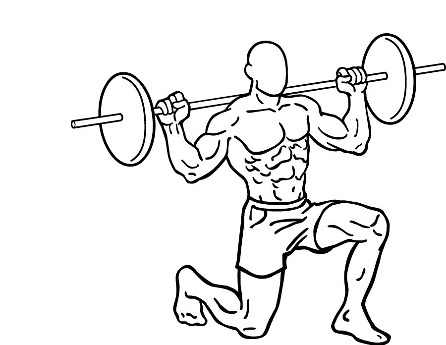 Diagram of a man doing power lunges
