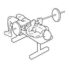 diagram of a man doing a close grip bench press