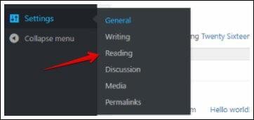 Reading feature in WordPress