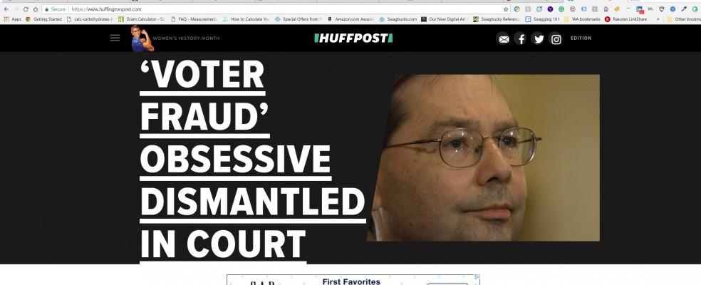 Image of HufPost home page