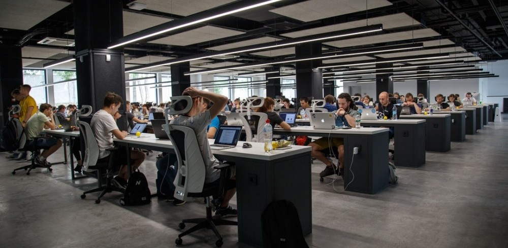 Image of workers in open office area