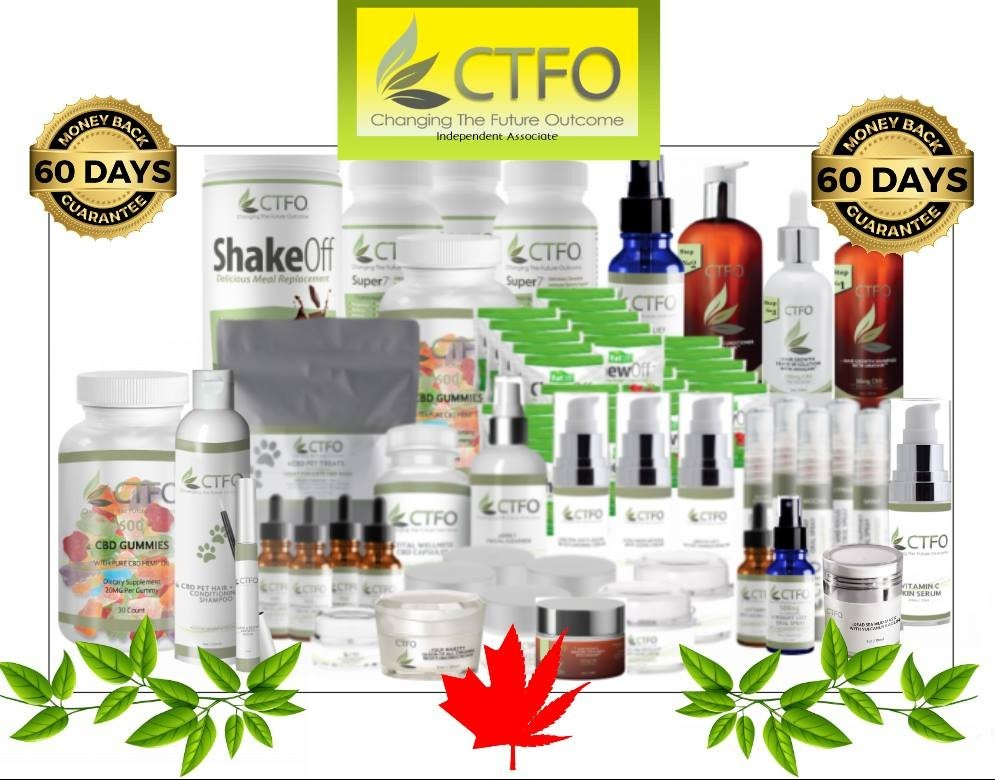 Image with pictures of all the CTFO products