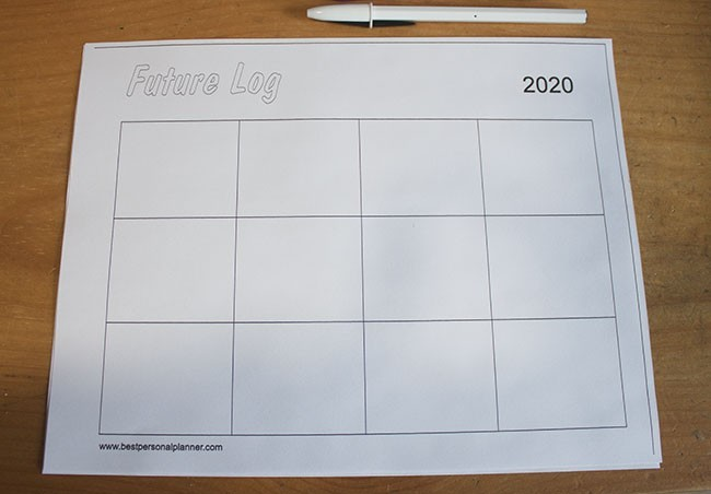7 Bullet Journal Future Log