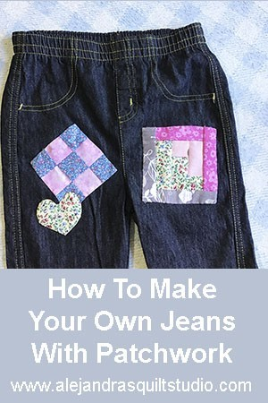 how to make jeans with patchwork