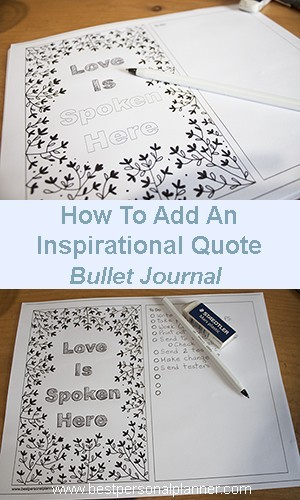 Inspirational Quotes Bullet Journal