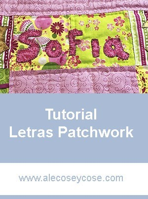 Tutorial to make patchwork letters
