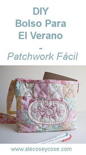 DIY bolso verano patchwork facil