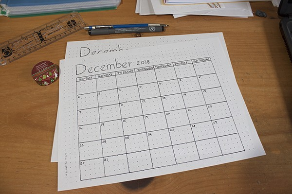December Month Setup - Bullet Journal