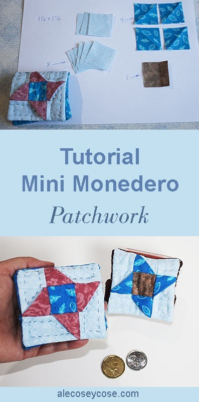 tutorial mini monedero parches