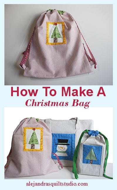 How To Make A Bag For Christmas