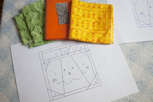 Tutorial Mini Quilt - Halloween
