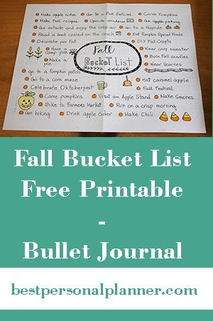 Fall bucket list FREE printable